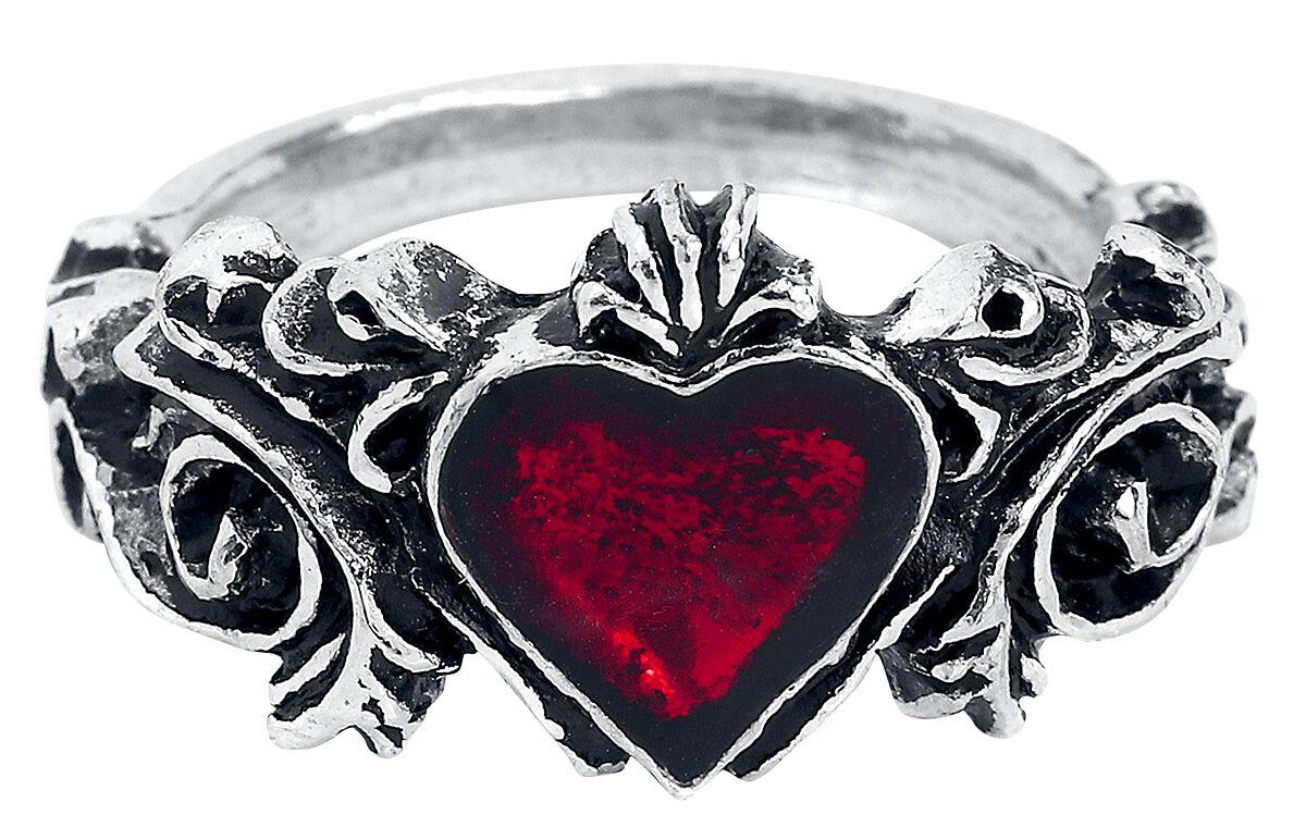 Alchemy Gothic Betrothal Ring silberfarben R134N