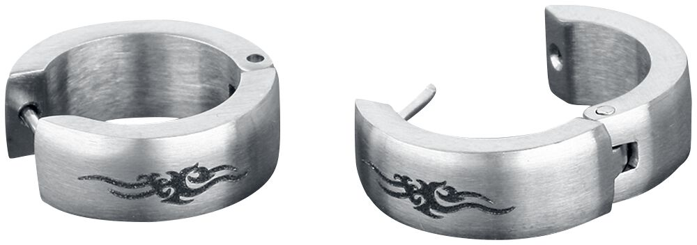 Image of   etNox hard and heavy Tribal Thorns Øreringe sæt sølvfarvet