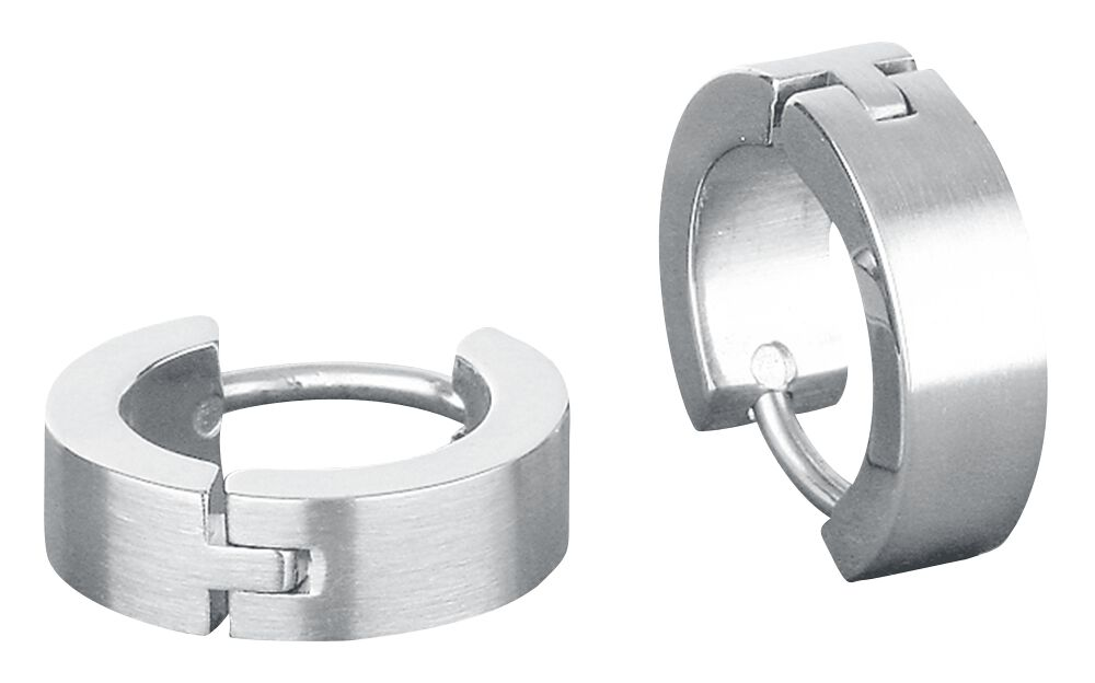 Ohrringe für Frauen - Edelstahl Creolen Ohrring Set silberfarben  - Onlineshop EMP
