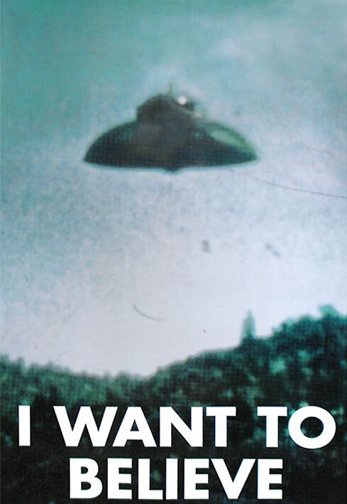 I Want To Believe Poster Mehrfarbig