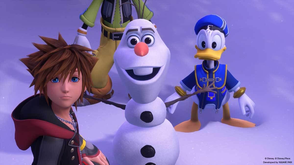 Sympathiebolzen Olaf ist mit am Start.