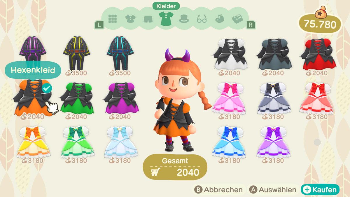 Kostüme und andere Verkleidungen gibt es auch zum Halloween-Event.