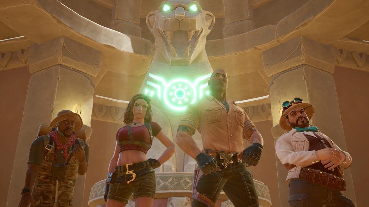 Die Figuren aus dem Reboot von Jumanji sind allesamt spielbar.