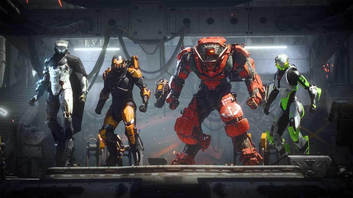 Alle vier Klassen von Anthem: Storm, Ranger, Collosus und Interceptor.