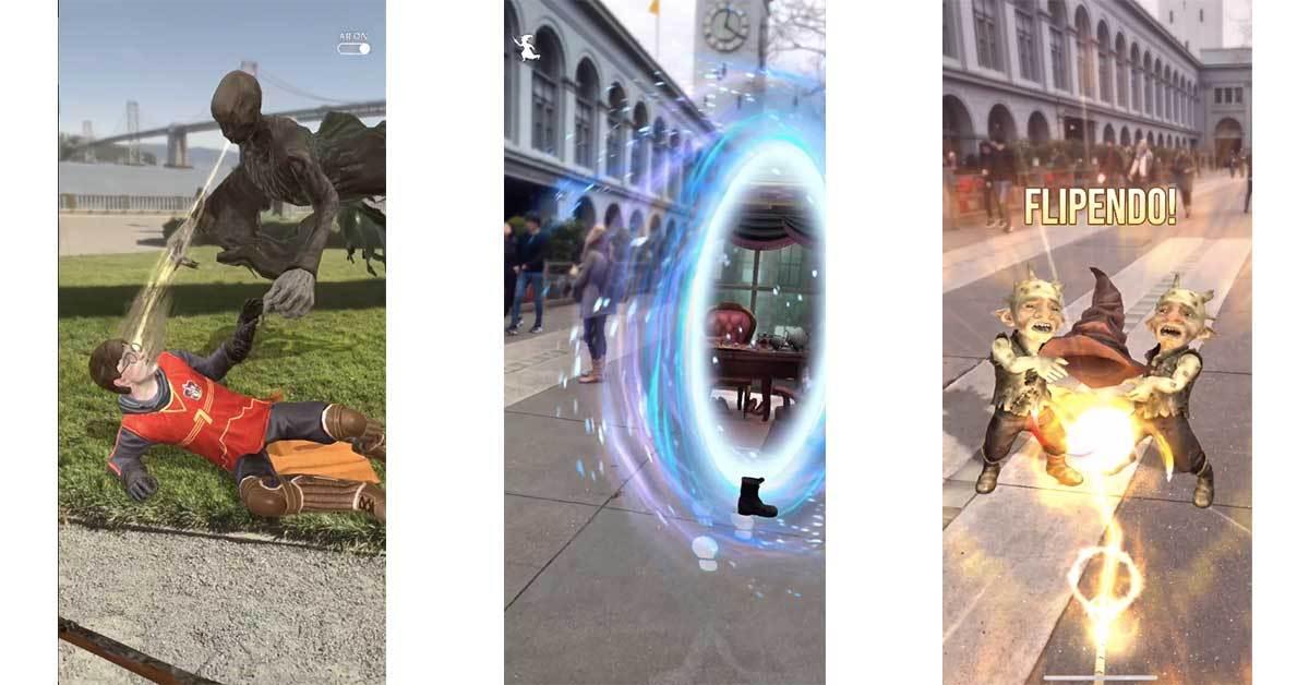 Portale, Kämpfe und allerlei witziges Getier aus dem Harry Potter-Universum.