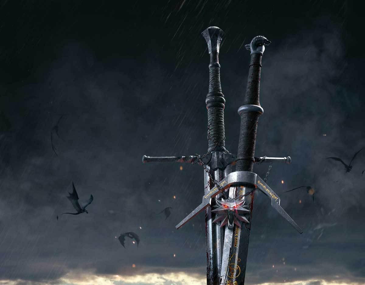 Zwei Schwerter dürfen nicht fehlen - Stahl und Silber!
