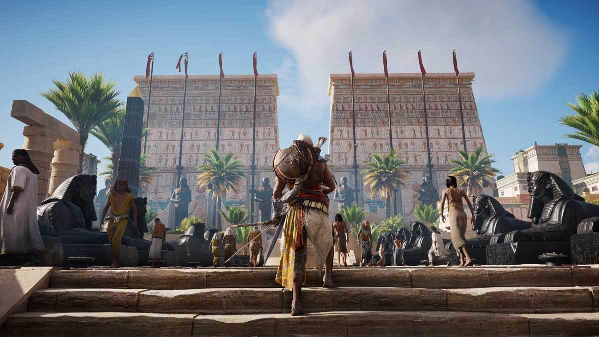 In Spielen wie Assassin's Creed Origins ist eine reale Umwelt zwingend notwendig.
