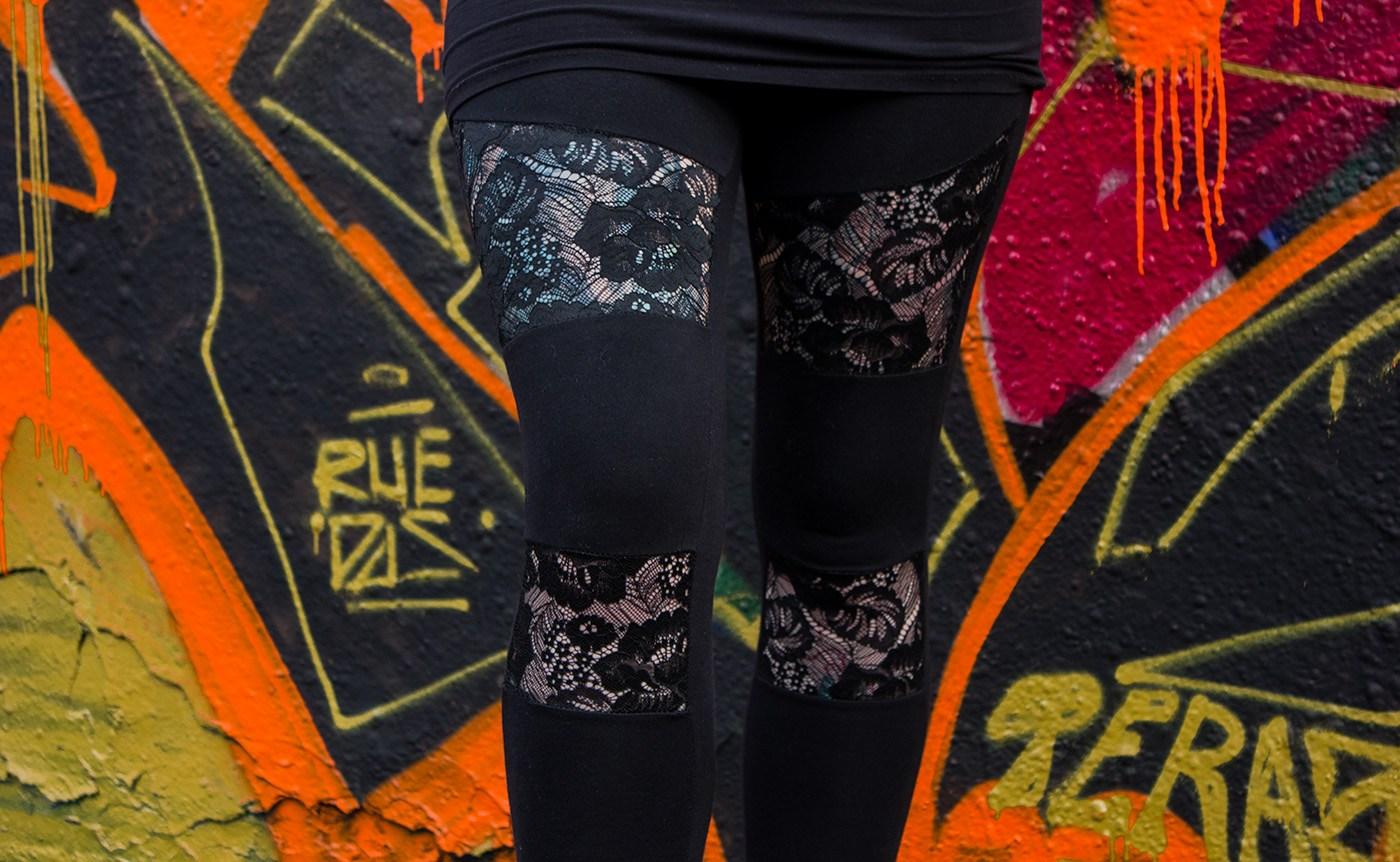 Ladies Lace Inset Leggings von Urban Classics