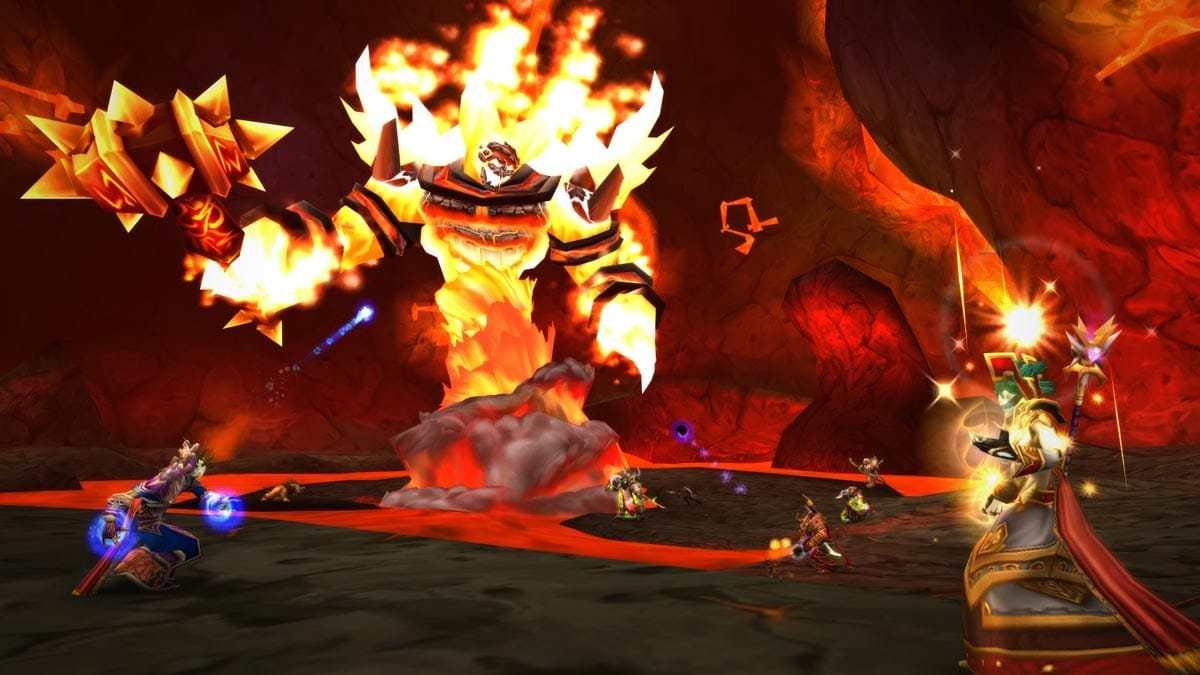 Ragnaros hat man in World of Warcraft Classic noch in einem 40-Mann Raid gelegt.
