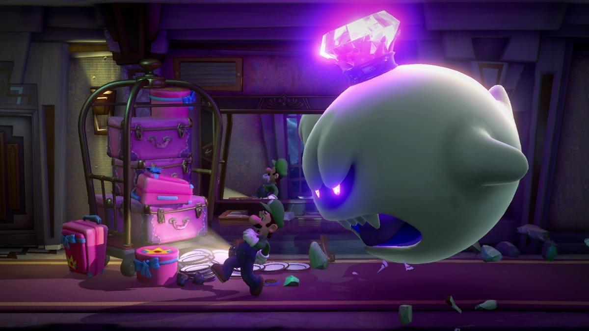 König Buu Huu macht Luigi das Leben schwer.
